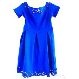 NWOT Off shoulder royal blue classic chic Dress